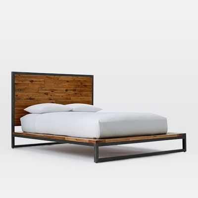 Logan Industrial Platform Bed - Natural-Queen - West Elm