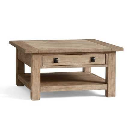 Benchwright Square Coffee Table, Seadrift - Pottery Barn