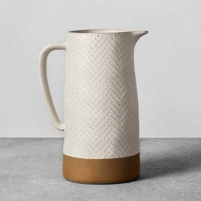 Textured Stoneware Pitcher - Cream - Hearth & Hand™ with Magnolia - Target
