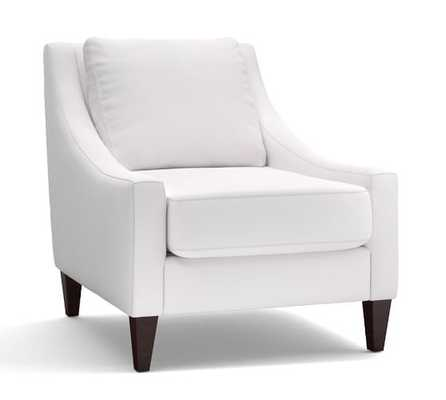 Aiden Upholstered Armchair, Polyester Wrapped Cushions, Twill Cream - Pottery Barn