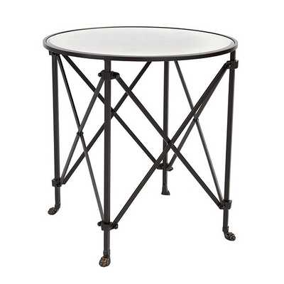 "Ballard Designs Olivia 30"" Round Mirrored Side Table - Ballard Designs"