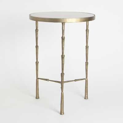 Mira Accent Table Marble and Bronze white - Lulu and Georgia
