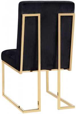Ayako Black Velvet Chair - Maren Home