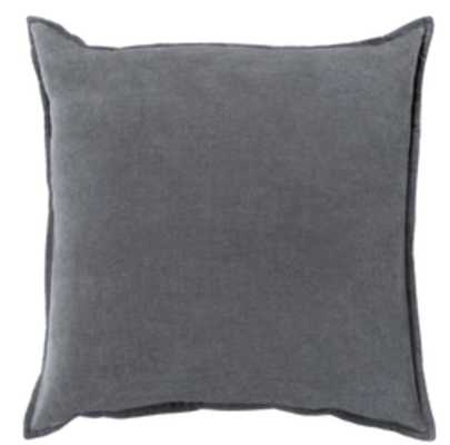 "Cotton Velvet Pillow, 18""x18"" with down insert - Neva Home"