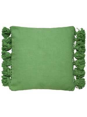 Kate Spade New York Yorkville Tassel Pillow, Green - Lulu and Georgia