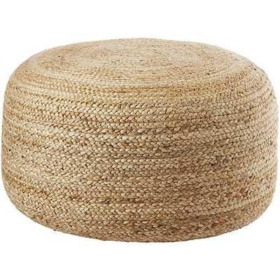 braided jute large pouf - CB2