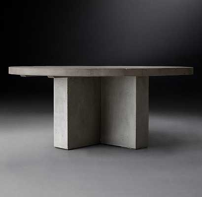 "CONCRETE PIER ROUND DINING TABLE - 60"" - RH Modern"