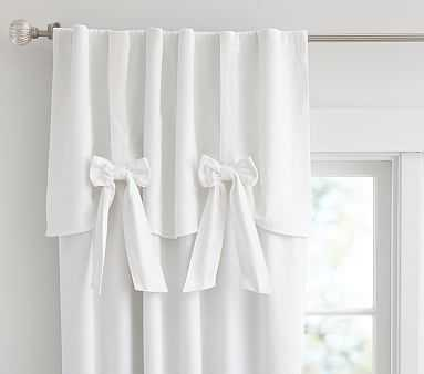 "Evelyn Bow Valance Panel, White, 96"" - Pottery Barn Kids"