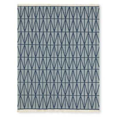 Arrow Flatweave Rug, 8x10', Blue - Williams Sonoma