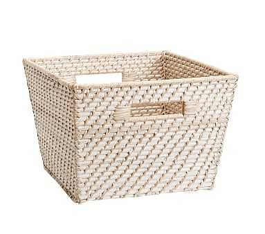 Large Quinn White Washed Basket - Pottery Barn Kids