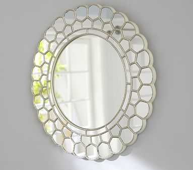 White Circle Blossom Mirror - Pottery Barn Kids