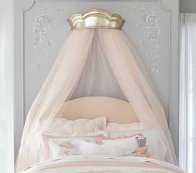 Monique Lhuillier Gold Cornice & Tulle Sheers - Pottery Barn Kids