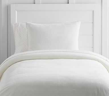 Luxe Chamois Duvet, Twin, Ivory - Pottery Barn Kids