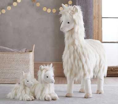 Small Faux-Fur Plush - Llama - Pottery Barn Kids