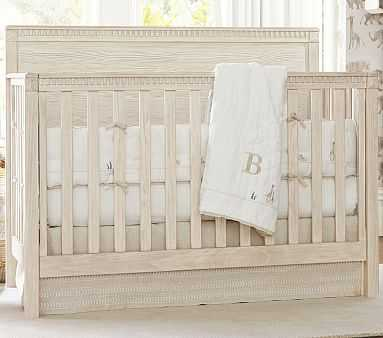 Sweet Animal Linen Crib Skirt, Natural - Pottery Barn Kids