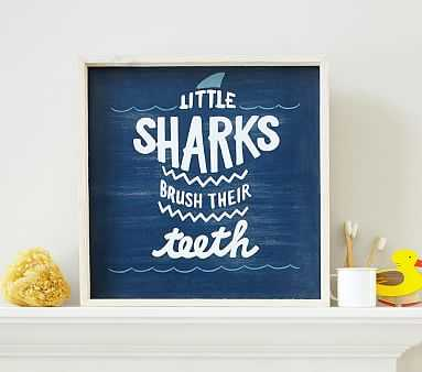 Sharks Brush Their Teeth Art - Pottery Barn Kids