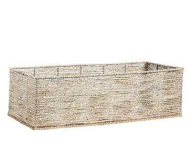 Silver Rope Basket Cameron Base - Pottery Barn Kids