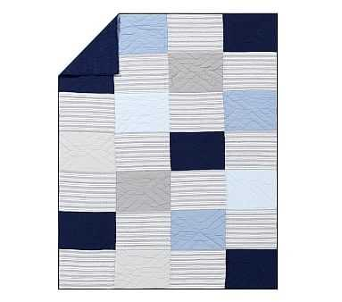 Patchwork Quilt, Twin, Navy Multi - Pottery Barn Kids