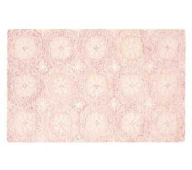 Eva Floral Medallion Rug, 5x8 Feet, Pink - Pottery Barn Kids