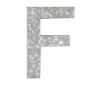 Galvanized Wall Letter, F - Pottery Barn Kids