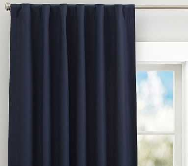 """Quincy Cotton Canvas Blackout Panel, 96"""", Navy - Pottery Barn Kids"""