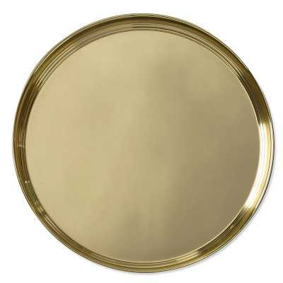 Gold Round Tray - Williams Sonoma