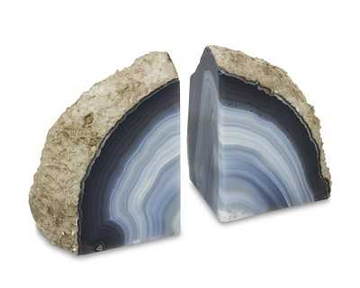 Agate Bookends, Set of 2, Natural - Williams Sonoma