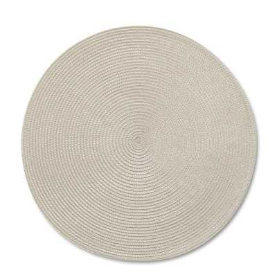 Round Woven Place Mats, Set of 2, Tan - Williams Sonoma