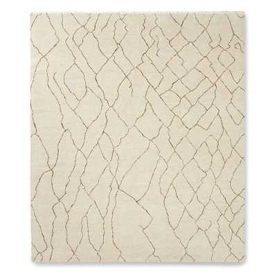 Mountain Fog Hand Knotted Rug, 9x12', Ivory - Williams Sonoma