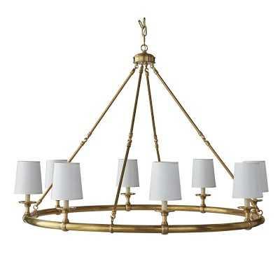 Devon, 8-Light Chandelier, Antique Brass - Williams Sonoma