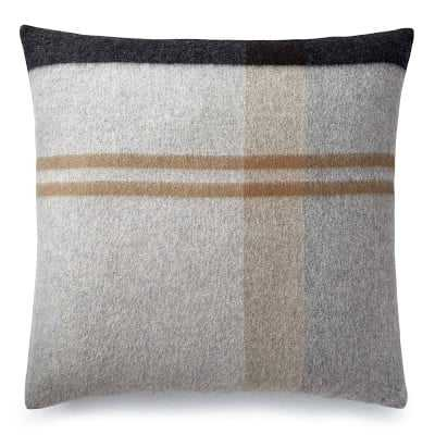 "Plaid Lambswool Pillow Cover, 22"" X 22"", Grayson - Williams Sonoma"