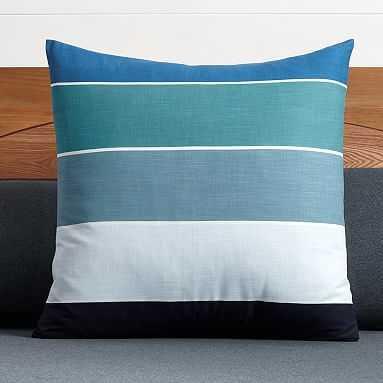 Kelly Slater Organic Tide Stripe, Euro Sham, Blue Multi - Pottery Barn Teen