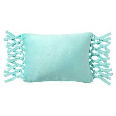 Bohemian Fringe Plush Pillow, 12x16, Pool - Pottery Barn Teen