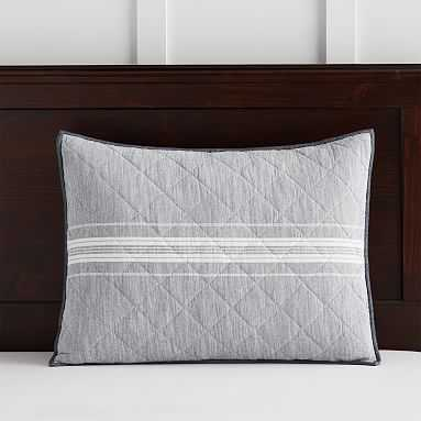 Windward Stripe Sham, Standard, Multi - Pottery Barn Teen