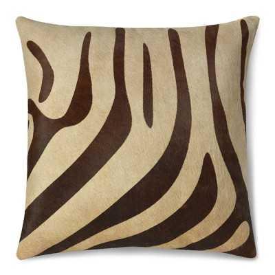 """Printed Zebra Hide Pillow Cover, 22"""" X 22"""" - Williams Sonoma"""