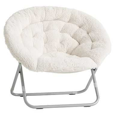 Sherpa Hang-A-Round Chair, Ivory - Pottery Barn Teen