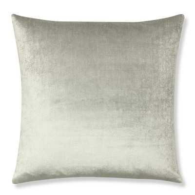 """Velvet Pillow Cover, 22"""" X 22"""", Gray - Williams Sonoma"""
