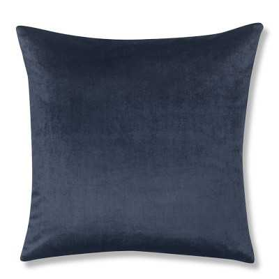 "Velvet Pillow Cover, 22"" X 22"", Midnight - Williams Sonoma"