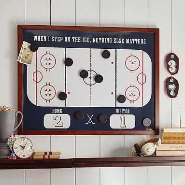 Hockey Magnet Wall Organization - Pottery Barn Teen