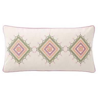 Diamond Desert Lumbar Pillow Cover, 12X24, Multi - Pottery Barn Teen