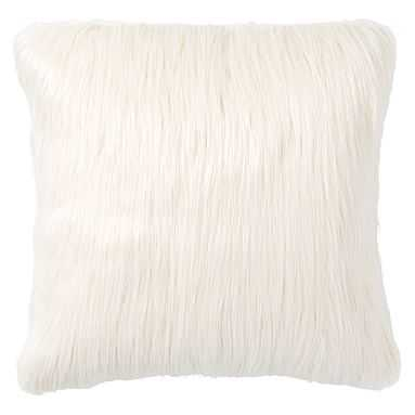 Fur-Rific Faux-Fur Pillow Cover, Ivory + insert - Pottery Barn Teen