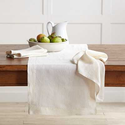 Washed Linen Table Runner, Cream - Williams Sonoma