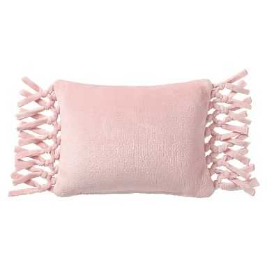 Bohemian Fringe Plush Pillow, 12x16, Quartz Blush - Pottery Barn Teen