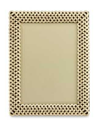 """L'Objet Braided Gold Picture Frame, 5"""" X 7"""" - Williams Sonoma"""