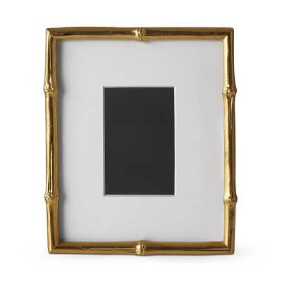"AERIN Gilded Bamboo Gallery Frame, 4"" X 6"" - Williams Sonoma"
