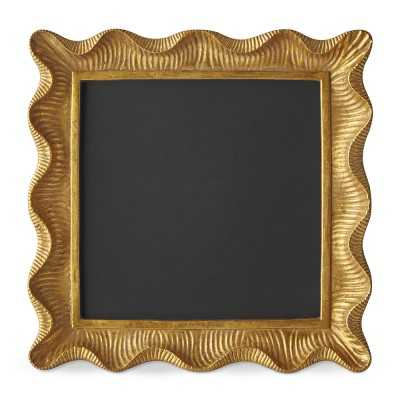 "AERIN Gold Scalloped Gallery Frame, 8"" X 8"" - Williams Sonoma"