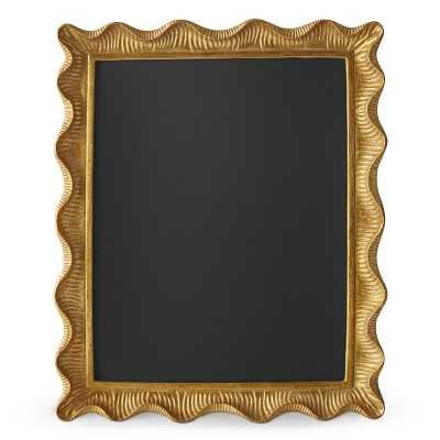 "AERIN Gold Scalloped Gallery Frame, 11"" X 14"" - Williams Sonoma"