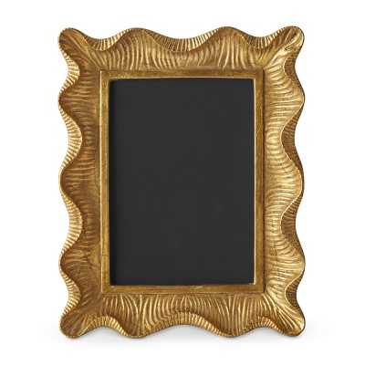 "AERIN Gold Scalloped Gallery Frame, 5"" X 7"" - Williams Sonoma"