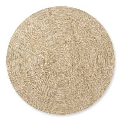 Natural Braided Round Rug, 8', Natural - Williams Sonoma