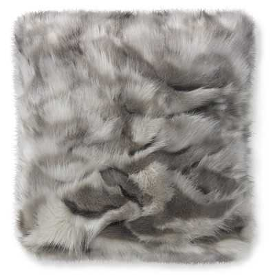 """Faux Fur Pillow Cover, 22"""" X 22"""", Gray Fox- Cover Only - Williams Sonoma"""